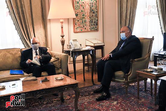 وزير الخارجية سامح شكرى يستقبل وزير خارجية مالى (2)