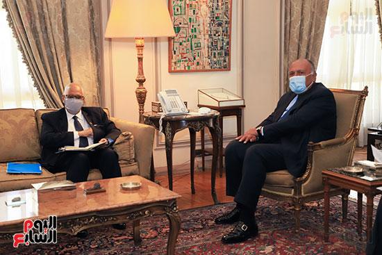 وزير الخارجية سامح شكرى يستقبل وزير خارجية مالى (9)