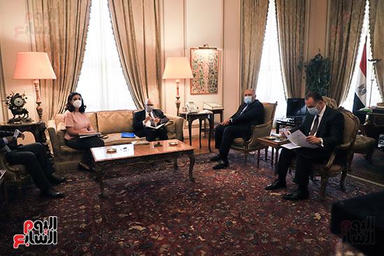 وزير الخارجية سامح شكرى يستقبل وزير خارجية مالى (10)