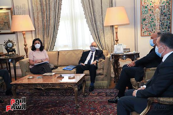 وزير الخارجية سامح شكرى يستقبل وزير خارجية مالى (12)