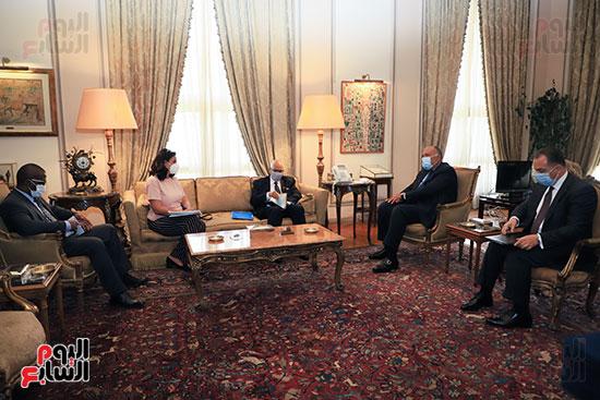 وزير الخارجية سامح شكرى يستقبل وزير خارجية مالى (1)