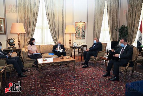 وزير الخارجية سامح شكرى يستقبل وزير خارجية مالى (13)