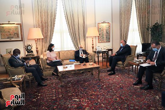 وزير الخارجية سامح شكرى يستقبل وزير خارجية مالى (6)