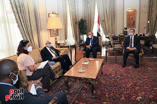وزير الخارجية سامح شكرى يستقبل وزير خارجية مالى (11)