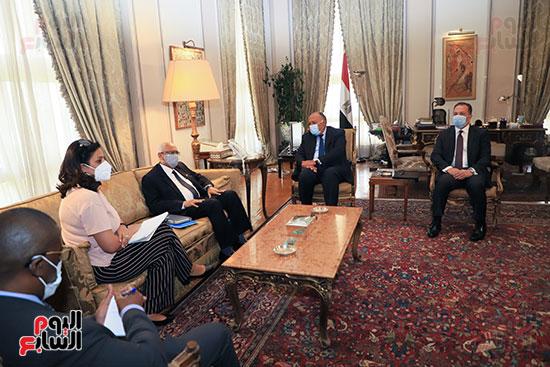 وزير الخارجية سامح شكرى يستقبل وزير خارجية مالى (3)