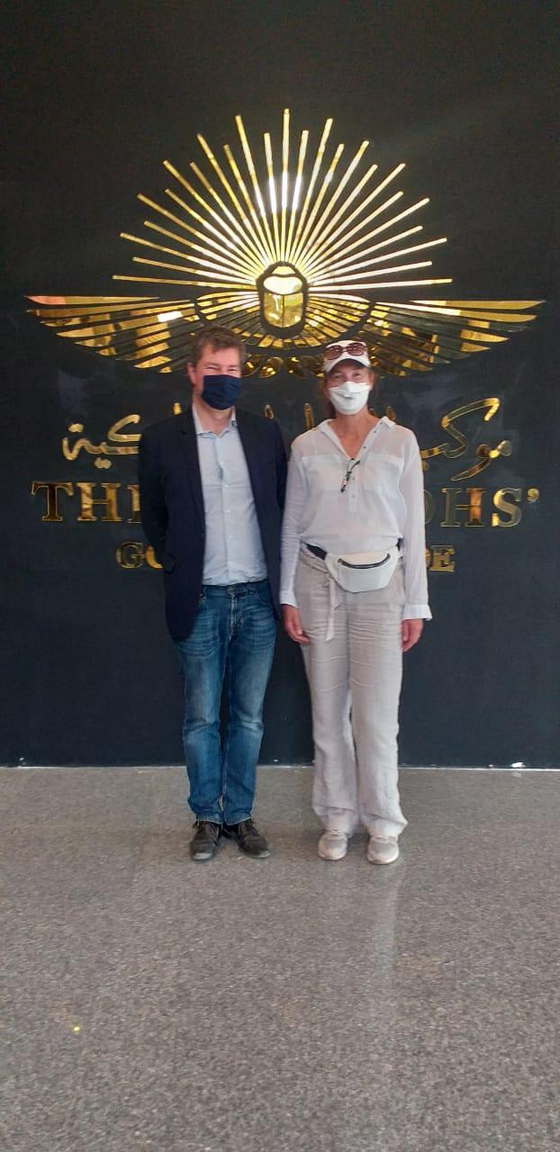 سفراء روسيا واليابان وبلجيكا يزورون المتحف القومى للحضارة بالفسطاط (1)