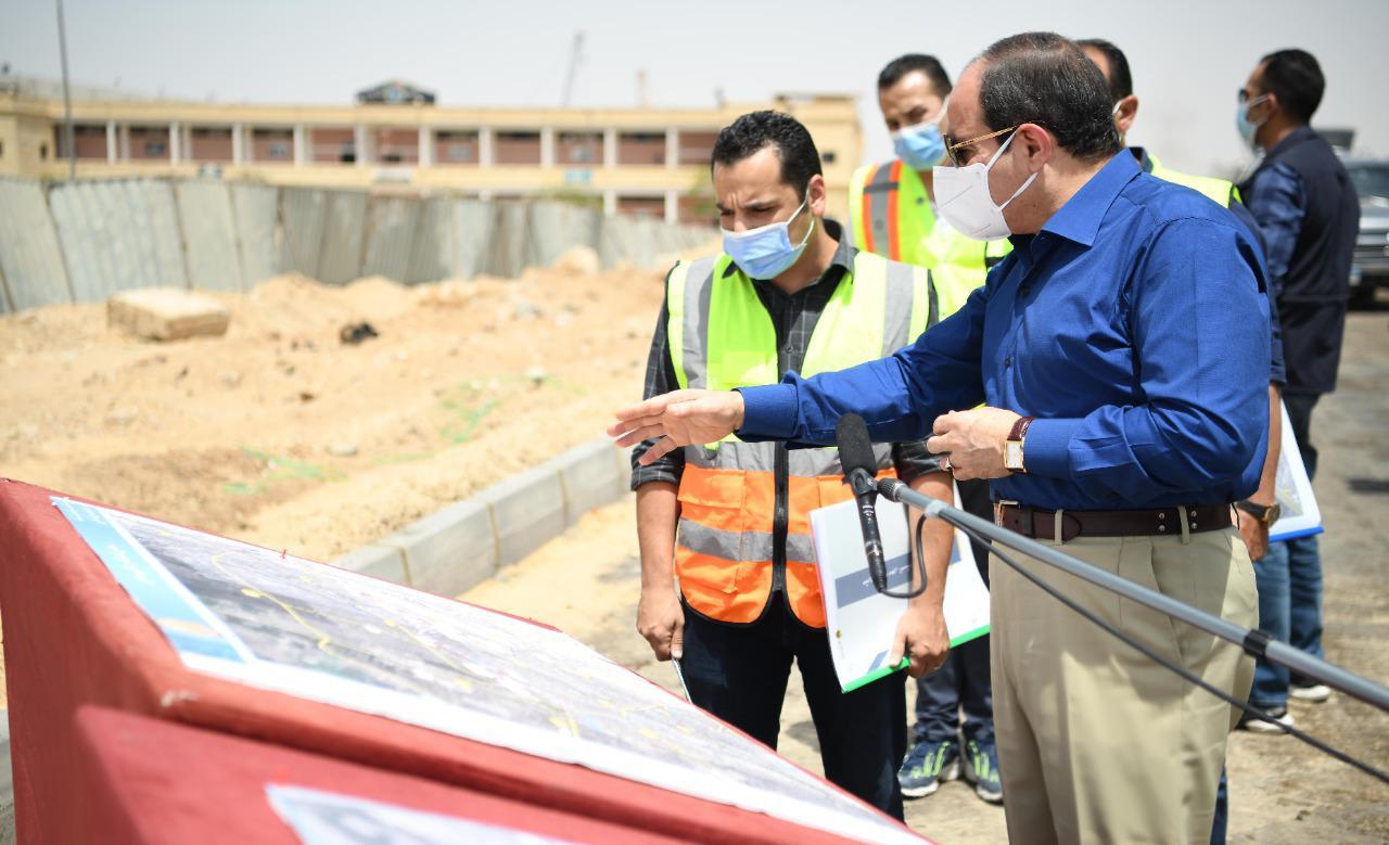 الرئيس السيسي يتفقد محاور شرق القاهرة (8)