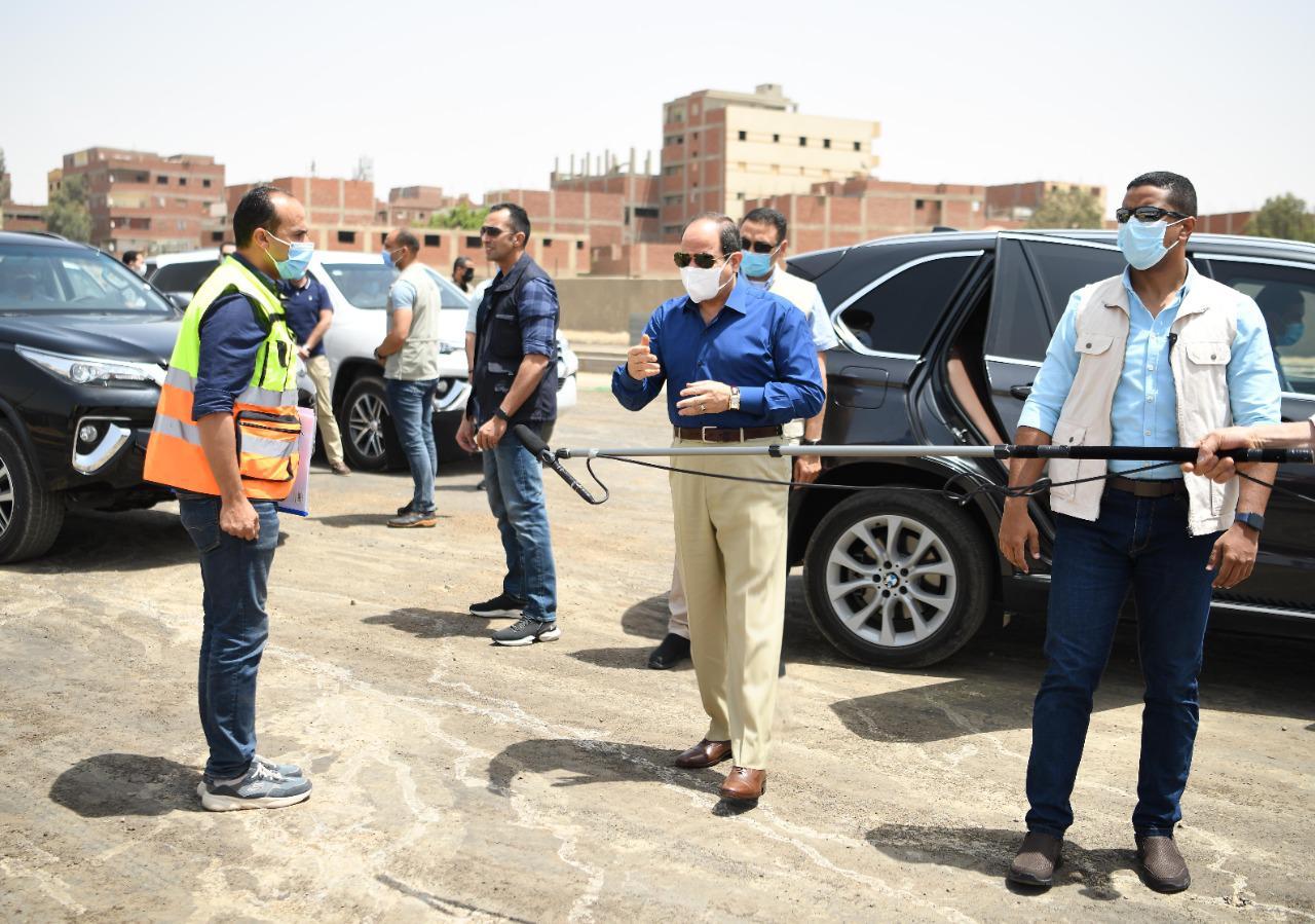 الرئيس السيسي يتفقد محاور شرق القاهرة (7)