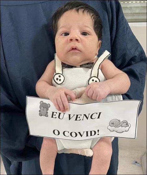 رضيع برازيلى ينجو من كورونا بعد إصابته في عمر 8 أيام (3)