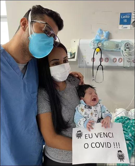 رضيع برازيلى ينجو من كورونا بعد إصابته في عمر 8 أيام (2)