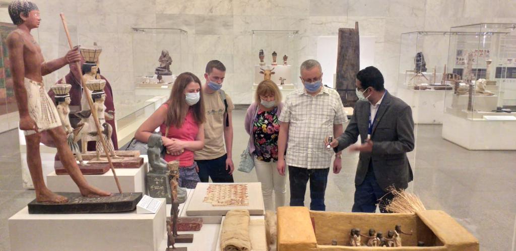 سفراء روسيا واليابان وبلجيكا يزورون المتحف القومى للحضارة بالفسطاط (3)