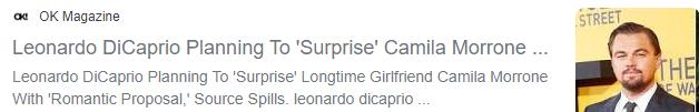 خبر حول زواج ليوناردو دى كابريو