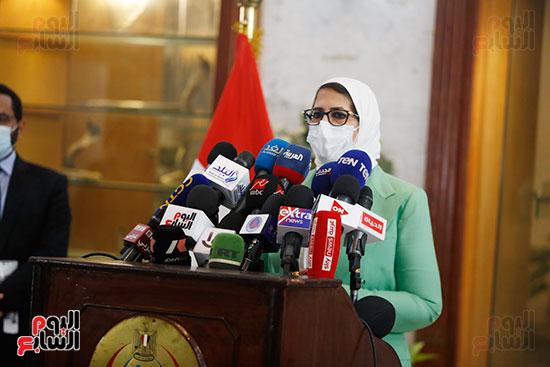 مؤتمر وزيرة الصحة هالة زايد (2)