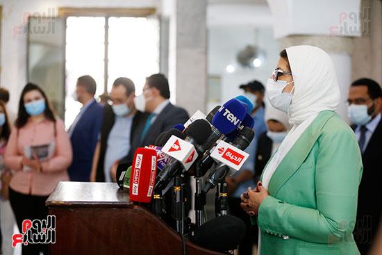 مؤتمر وزيرة الصحة هالة زايد (4)