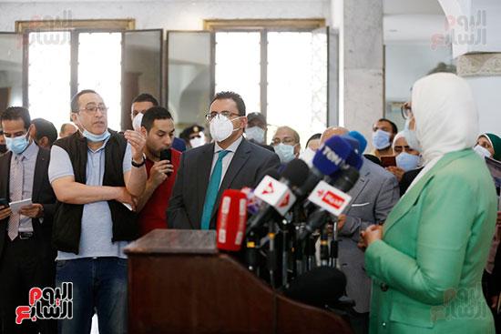 مؤتمر وزيرة الصحة هالة زايد (1)