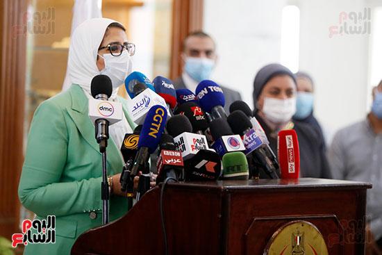 مؤتمر وزيرة الصحة هالة زايد (6)
