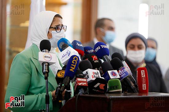مؤتمر وزيرة الصحة هالة زايد (7)