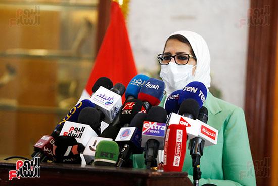 مؤتمر وزيرة الصحة هالة زايد (3)