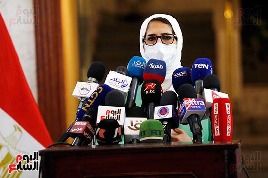 مؤتمر وزيرة الصحة هالة زايد (5)
