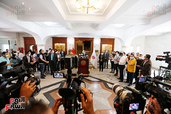 مؤتمر وزيرة الصحة هالة زايد (11)