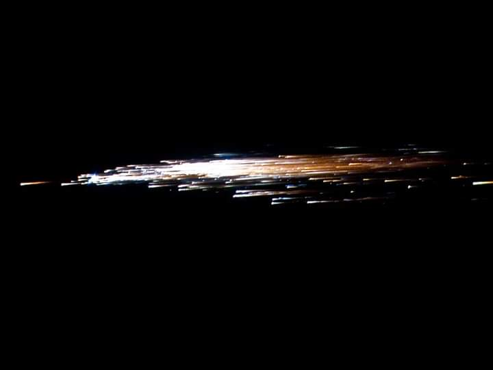 صور رصد حركة الصاروخ الصينى قبل سقوطه (2)