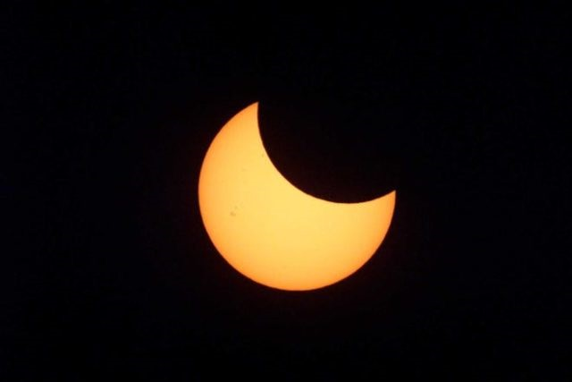 الكسوف الجزئي للشمس