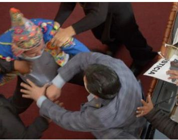 شجار فى البرلمان البوليفى