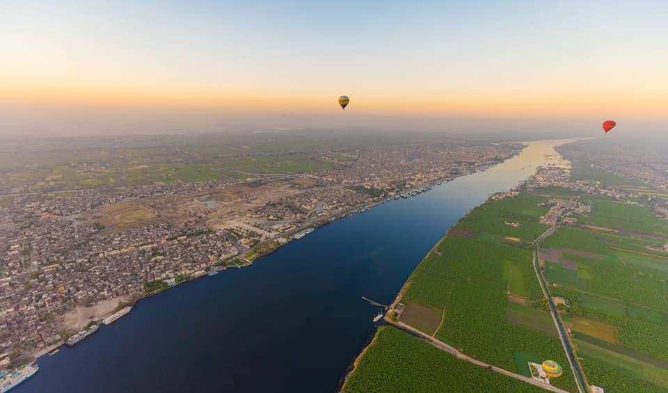 جانب من رحلات البالون بسماء محافظة الأقصر