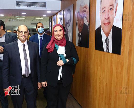 جانب من زيارة وزيرة التضامن اليوم السابع