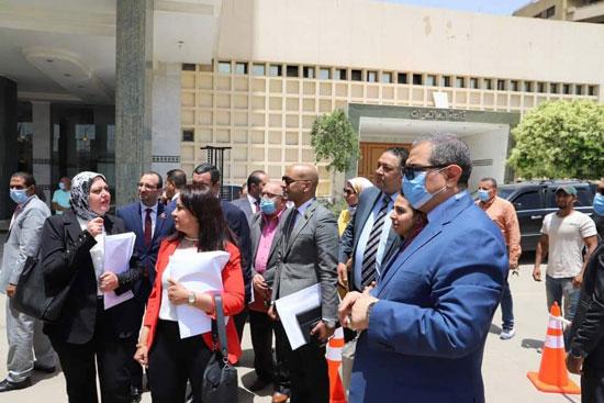 وزير القوى العاملة مع وفد تنسيقية شباب الأحزاب (1)