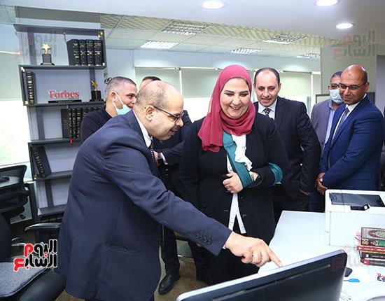 وزيرة التضامن بصالة تحرير اليوم السابع