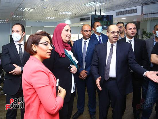 خلال جولة وزيرة التضامن  بصالة تحرير اليوم السابع