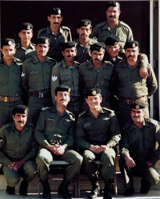 الملك عبد الله خلال خدمة الجيش