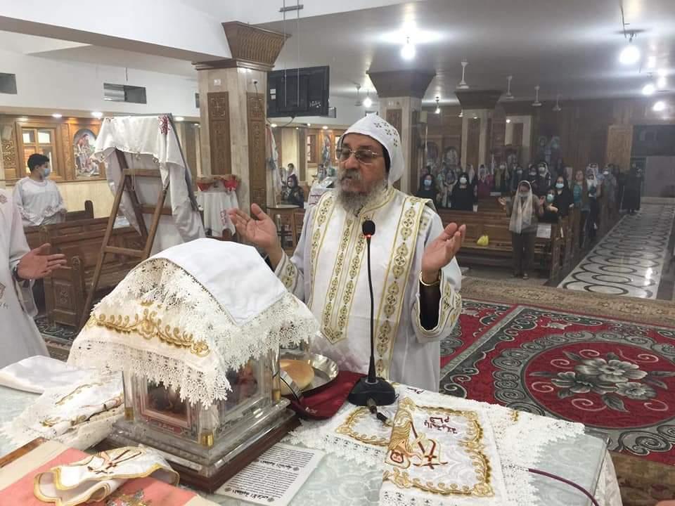قداس عيد الصعود المجيد بكنيسة مارجرجس بأرمنت الوابورات