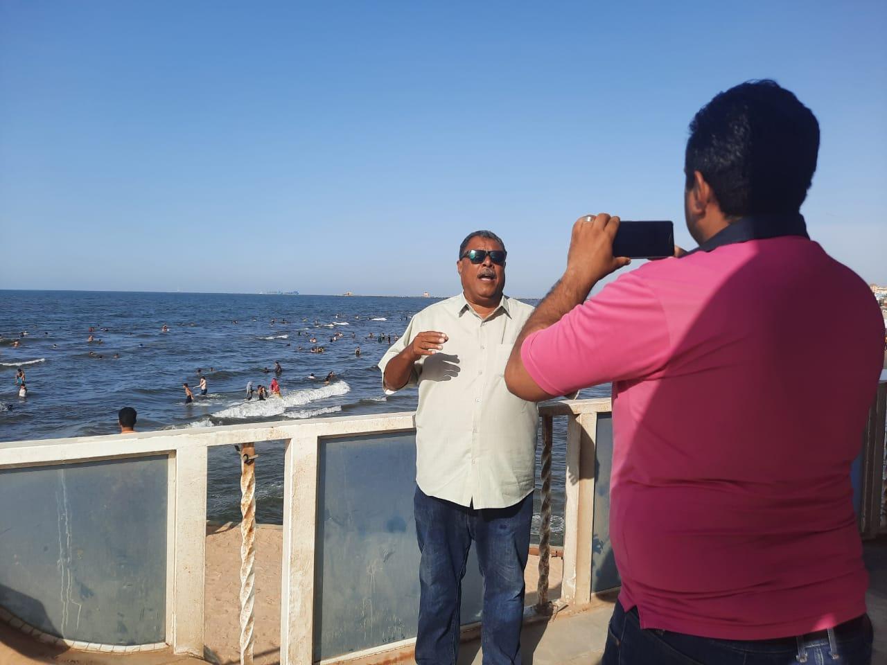 خلال حوار اليوم السابع مع مدير إدارة الشاطئ