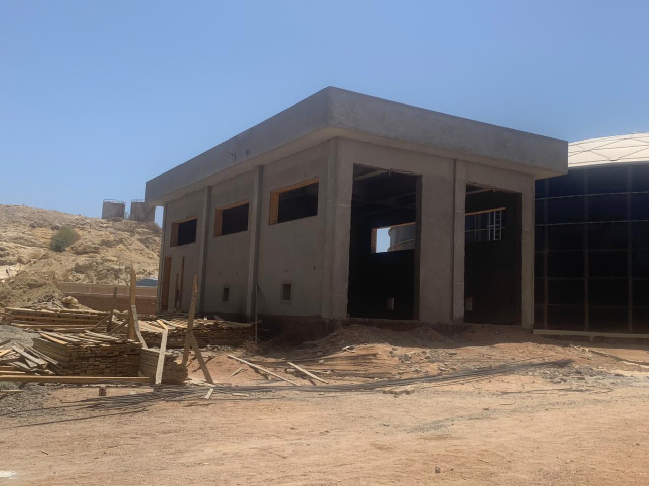 مباني محطة مياه الدهار