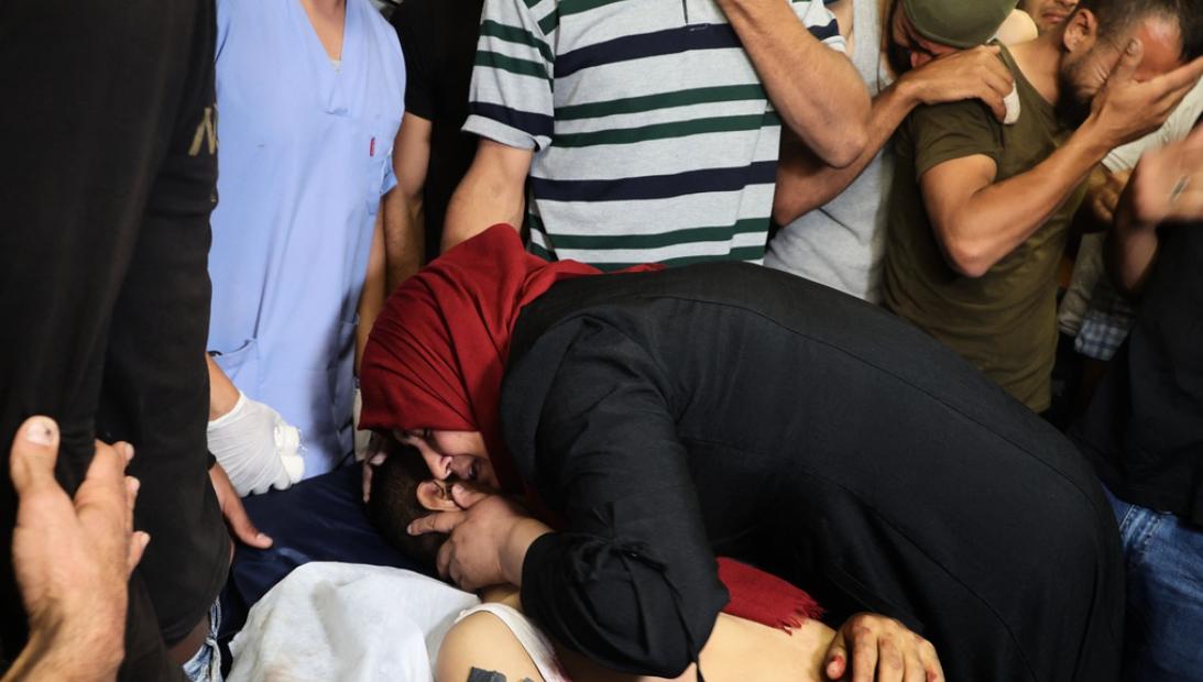 جثة الشاب الفلسطيني