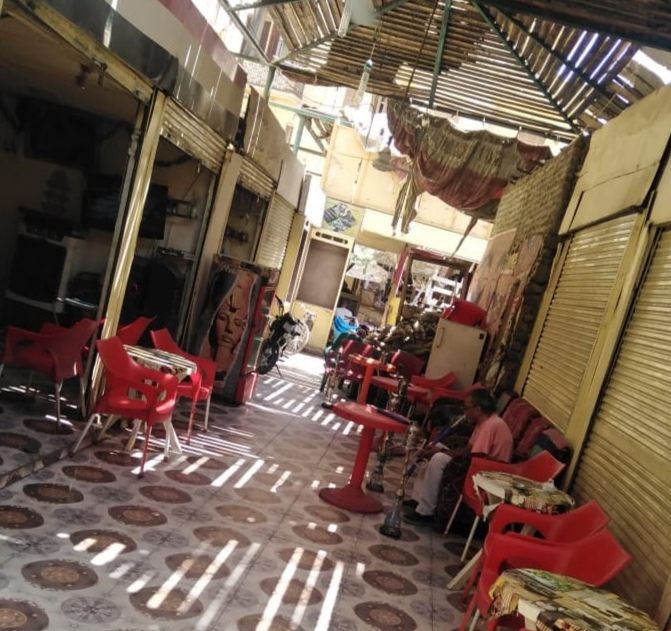 مصادرة 9 شيشة فى مقهى خلف السوق السياحى بالأقصر