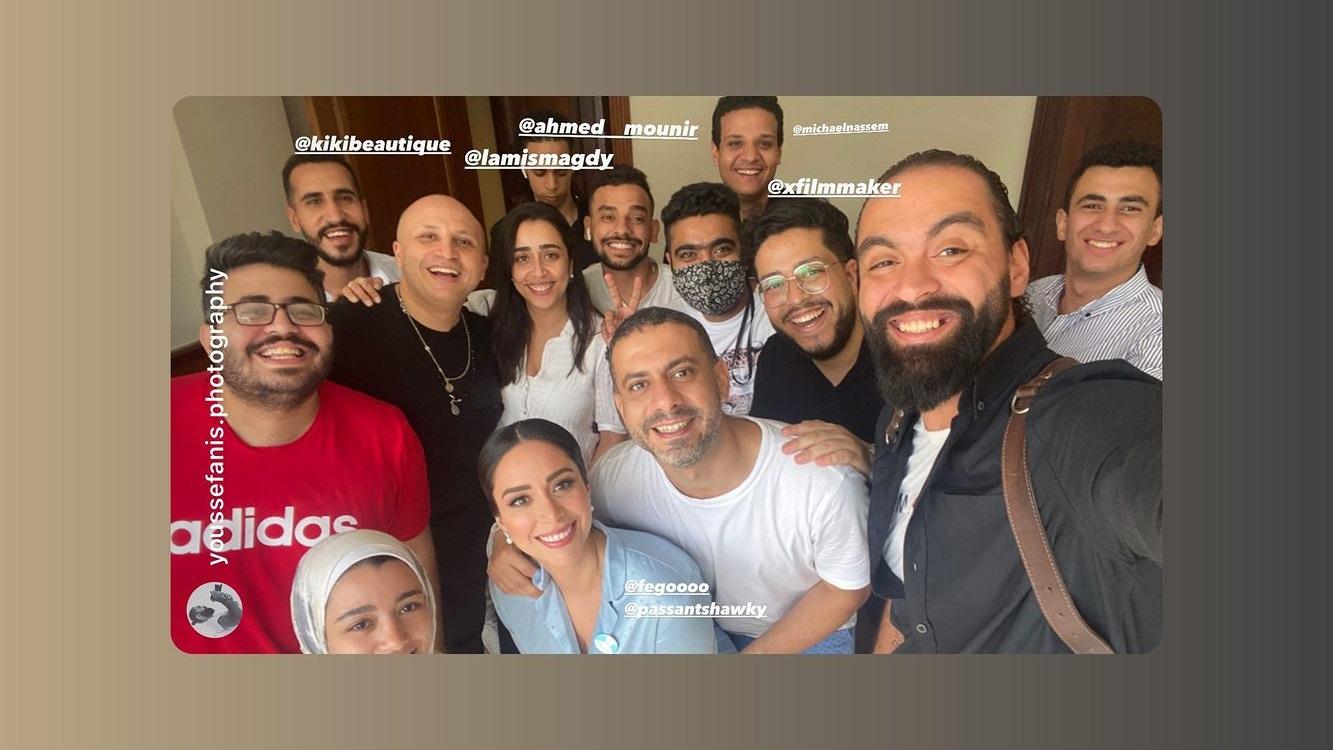 كواليس حفل زفاف محمد فراج وبسنت شوقي