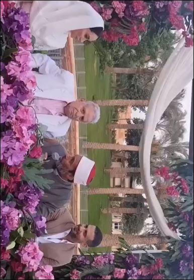شاهد لحظة عقد قران محمد فراج وبسنت شوقى (2)