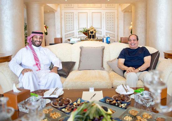 الرئيس عبد الفتاح السيسي والأمير محمد بن سلمان ولى العهد السعودى (1)