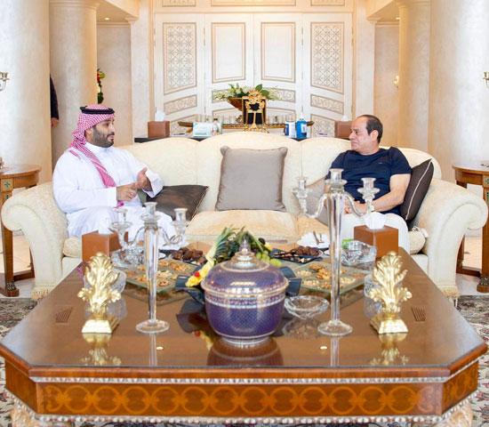 الرئيس عبد الفتاح السيسي والأمير محمد بن سلمان ولى العهد السعودى (2)