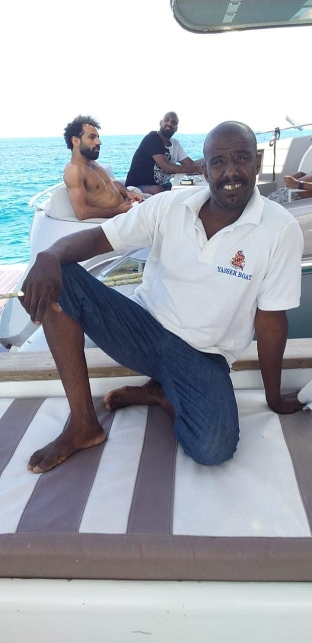 محمد صلاح في رحلة بحرية بالجونة