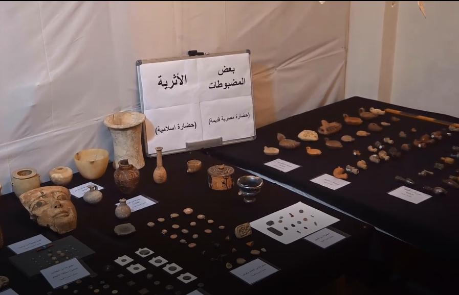 مضبوطات اثار مصرية قديمة واسلامية