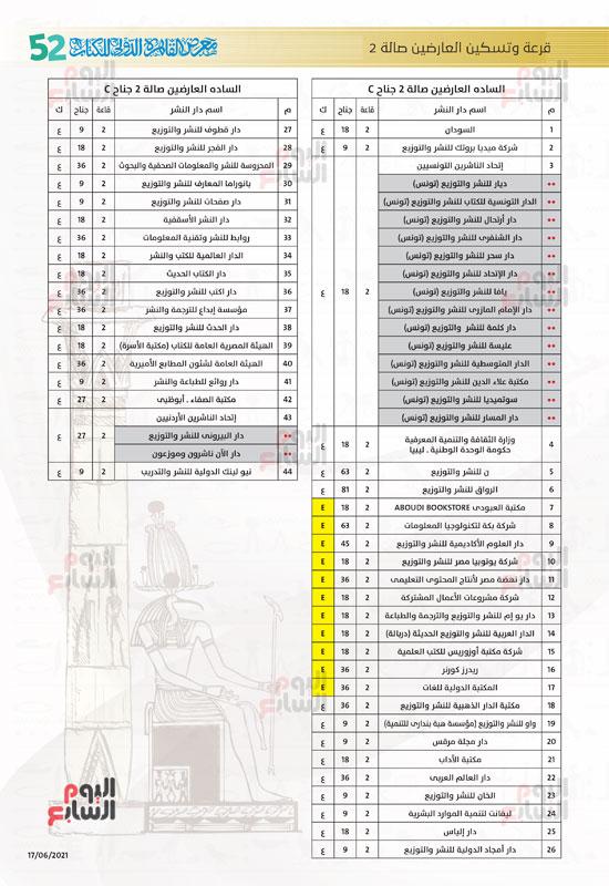 خرائط بأماكن جميع دور الناشرين المشاركين بمعرض القاهرة (7)