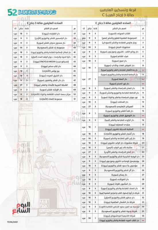 خرائط بأماكن جميع دور الناشرين المشاركين بمعرض القاهرة (10)