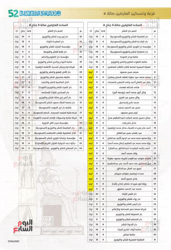 خرائط بأماكن جميع دور الناشرين المشاركين بمعرض القاهرة (11)