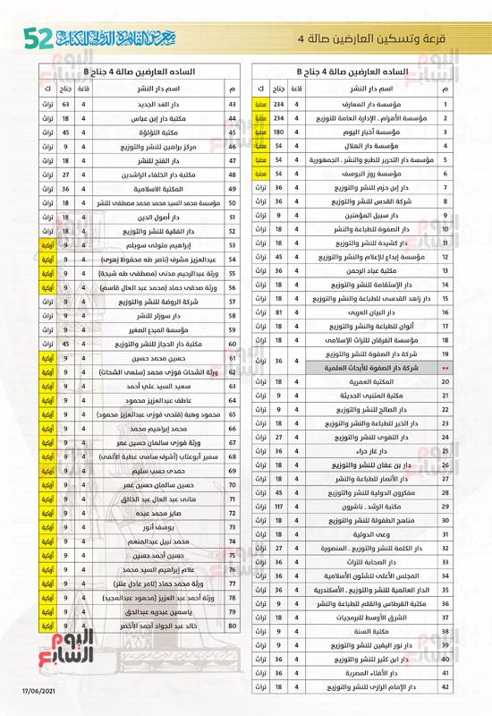 خرائط بأماكن جميع دور الناشرين المشاركين بمعرض القاهرة (12)