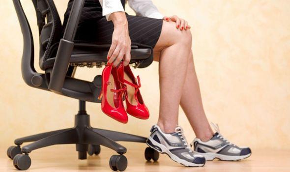 تجنب الحذاء ذو الكعب العالى