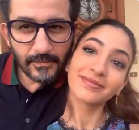 احمد حلمي وابنته